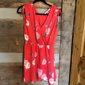 Beautiful coral colored sleeveless dress